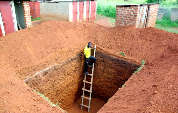 Building latrines and hygiene promotion